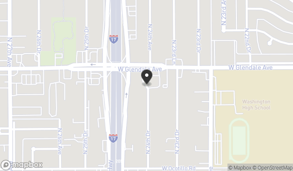 Location of 6832 N 24th Dr, Phoenix, AZ 85015