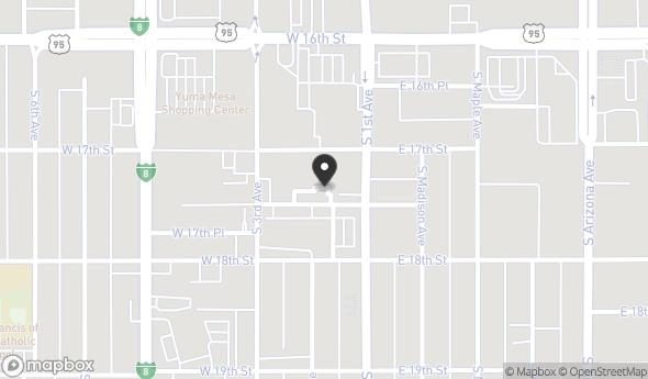 Location of 170 W 17th Pl, Yuma, AZ 85364