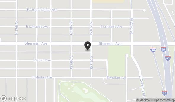 Location of 2018 East Sherman Avenue, Coeur d'Alene, ID 83814