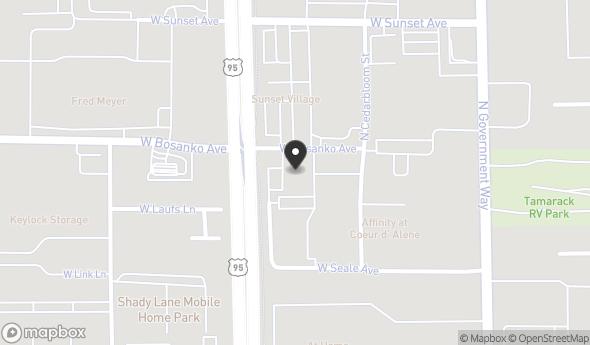 Location of 348-350 W Bosanko Ave, Coeur d'Alene, ID 83815