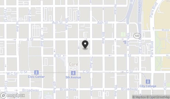 Location of 600 B St, San Diego, CA 92101