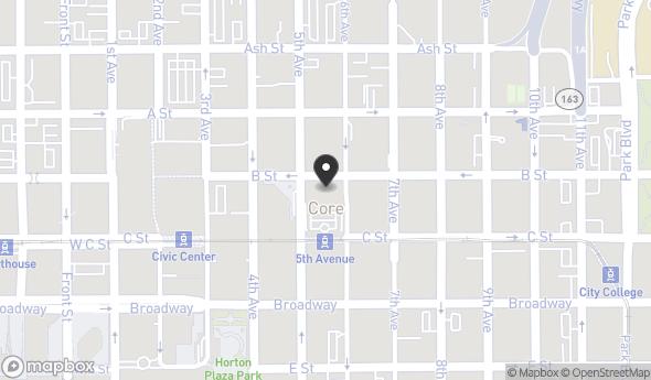 Location of 525 B St, San Diego, CA 92101