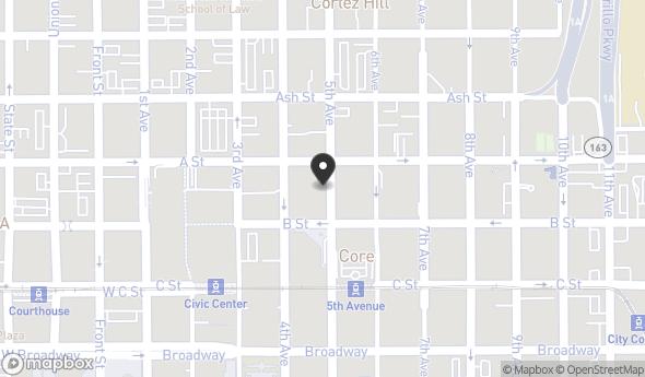 Location of 450 B St, San Diego, CA 92101