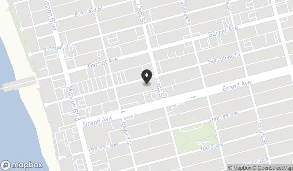 Location Of 959 Hornblend Street San Diego CA 92109