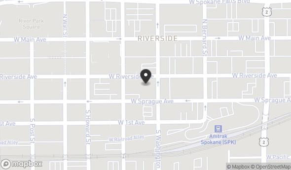 Location of Paulsen Center: 421 W Riverside Ave, Spokane, WA 99201