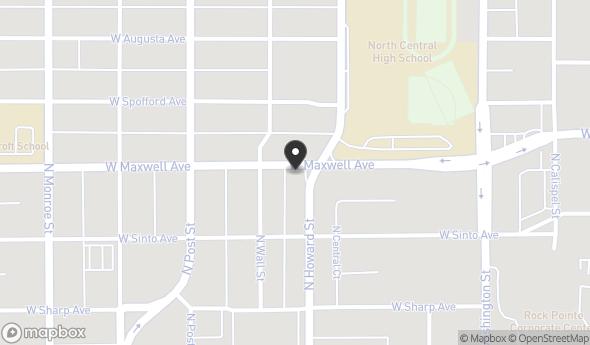 Location of 601 W Maxwell Ave, Spokane, WA 99201