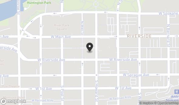 Location of Bank of Whitman Building: 618 W Riverside Ave, Spokane, WA 99201