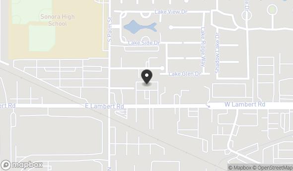 Location of 2121 E Lambert Rd, La Habra, CA 90631