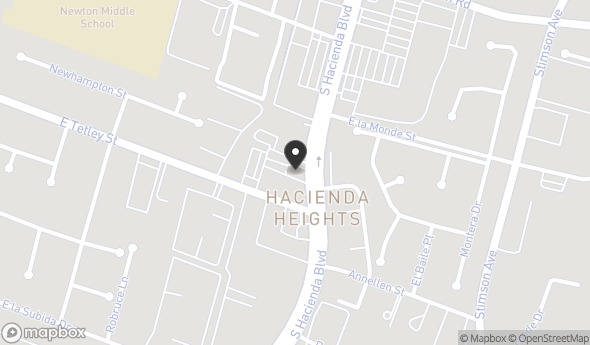Location of 2233 S Hacienda Blvd, Hacienda Heights, CA 91745