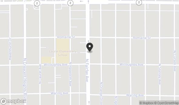 920 North Fairfax Avenue Map View