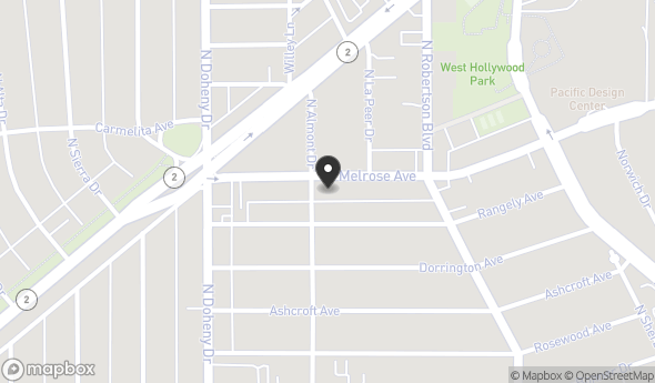8920 Melrose Ave Map View