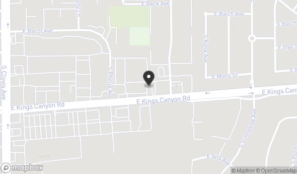 Location of 5691 E Kings Canyon Rd, Fresno, CA 93727