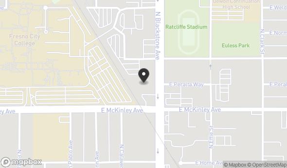 Location of Auto Repair/Warehouse Facility - Move in Ready Condition: 1649 N Blackstone Ave, Fresno, CA 93703