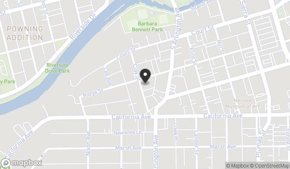Location of 448 Ridge St, Reno, NV 89501