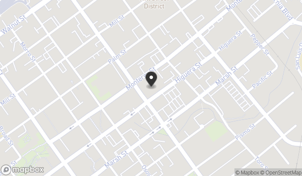 Location of 1101 Monterey St, San Luis Obispo, CA 93401