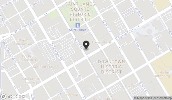 Location of 18 N 1st St, San Jose, CA 95113
