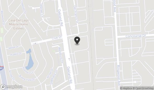Location of OAKLAND RD: Oakland Rd, San Jose, CA 95131