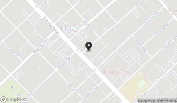 Location of 1650 The Alameda, San Jose, CA 95126