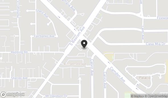 Location of 2258 Camden Ave, San Jose, CA 95124