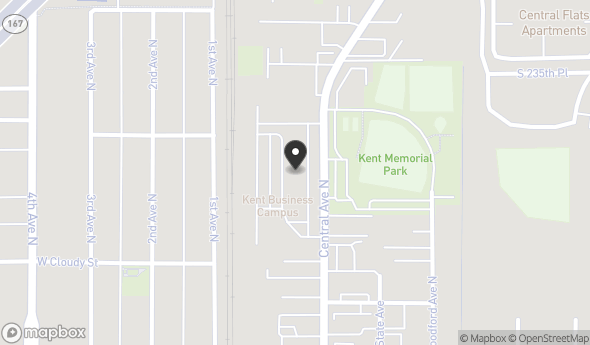 Location of Kent Business Campus (Office): 841 N Central Ave, Kent, WA 98032