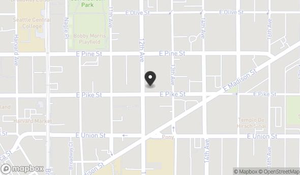 Location of 1200 E Pike St, Seattle, WA 98122