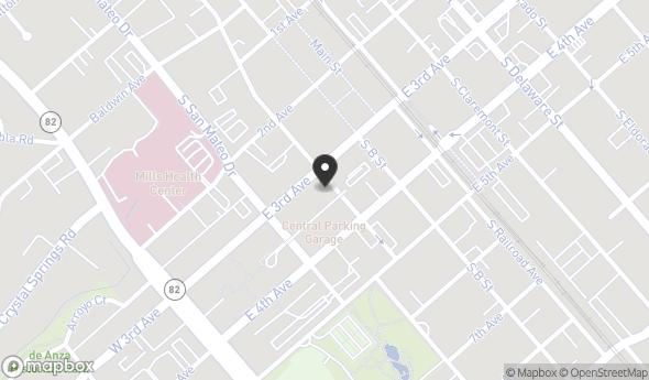 Location of 180 E 3rd Ave, San Mateo, CA 94401