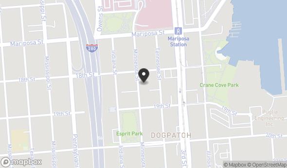 Location of 601 Minnesota St, San Francisco, CA 94107