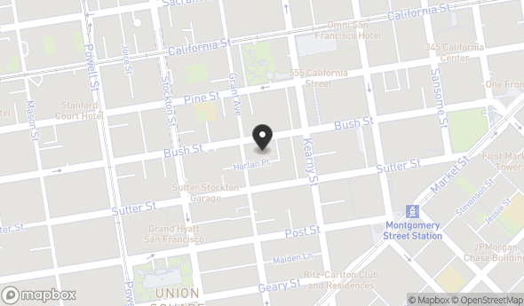 Location of 461 Bush St, San Francisco, CA 94108