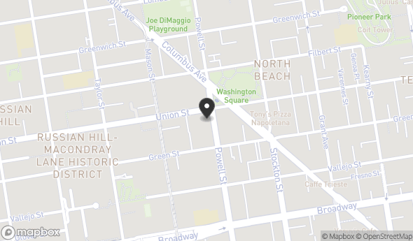 Location of 1657 Powell St, San Francisco, CA 94133