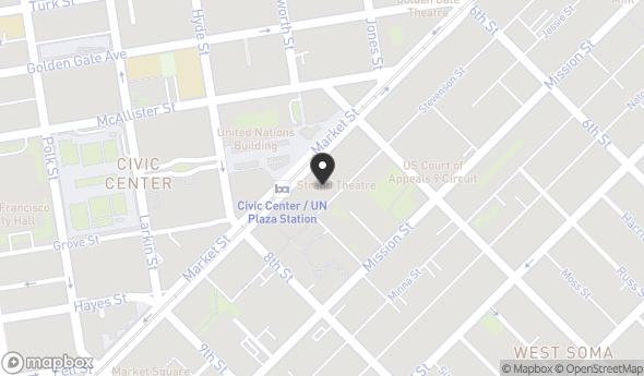 Location of 1145 Market St, San Francisco, CA 94103
