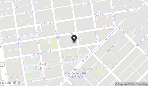 Location of 110 McAllister St, San Francisco, CA 94102