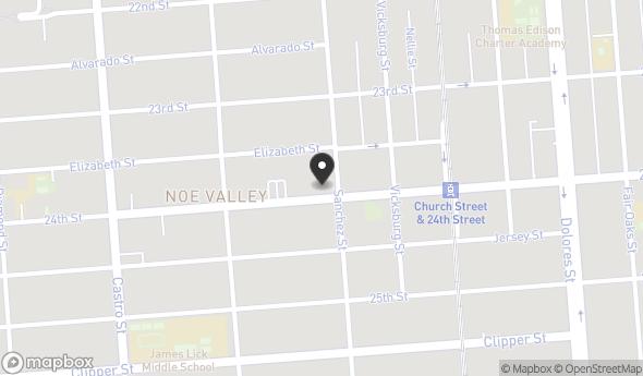 Location of 3908 24th St, San Francisco, CA 94114