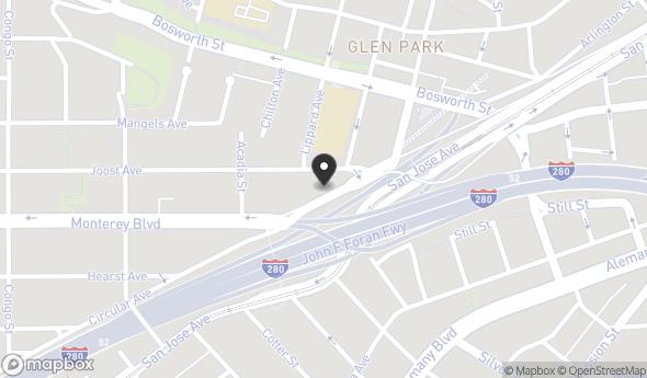 Location of 36 Monterey Blvd, San Francisco, CA 94131