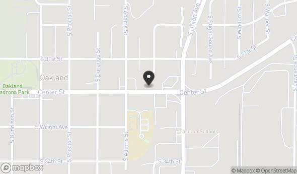 Location of 3701 Center St, Tacoma, WA 98409