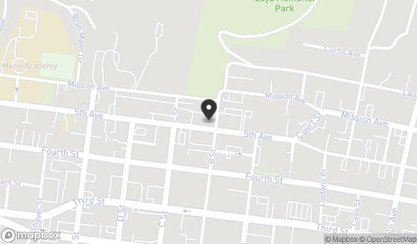 Location of 1200 5th Ave, San Rafael, CA 94901