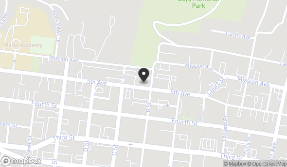 Location of 1210 5th Ave, San Rafael, CA 94901