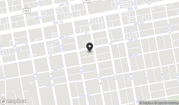 Location of 730 7th St, Eureka, CA 95501