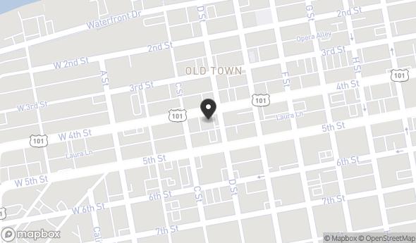 Location of 230 4th Street, Eureka, CA 95501