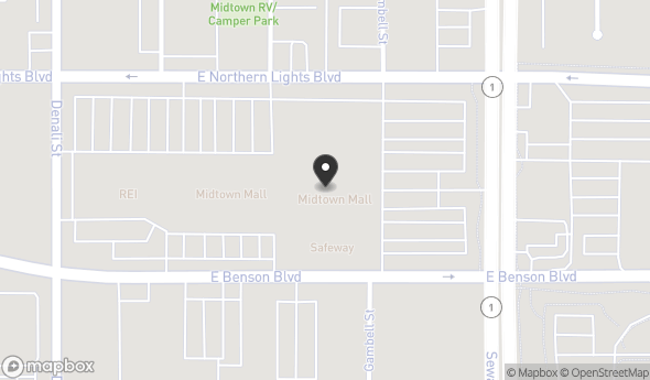 Location of Midtown Mall: 700 East Northern Lights Boulevard, Anchorage, AK 99503
