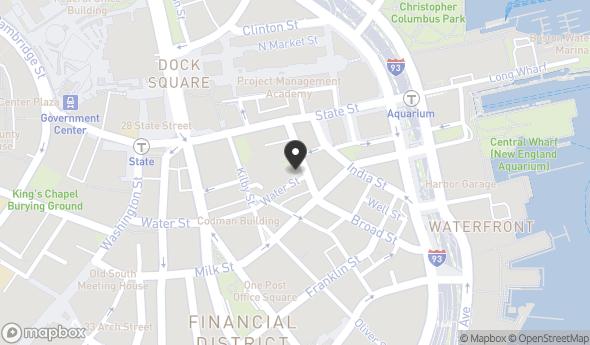 Location of 33 Broad St, Boston, MA 02109