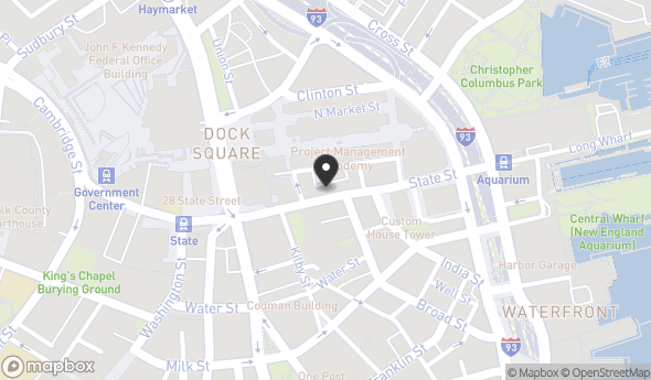 Location of 100 State St, Boston, MA 02109
