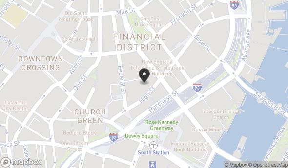 Location of 100 High St, Boston, MA 02110