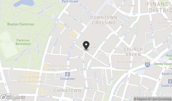 Location of LAFAYETTE CITY CENTER: Ave De Lafayette and Washington St, Boston, MA 02111