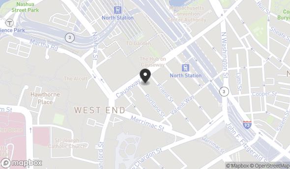 Location of 205 Portland St, Boston, MA 02114