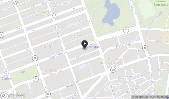 Location of 376 Boylston St, Boston, MA 02116