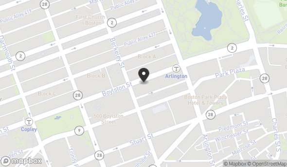 Location of 414 Boylston St, Boston, MA 02116