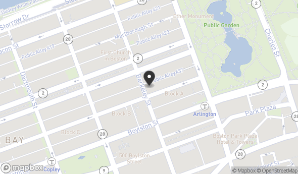 Location of Peabody Building: 39/45 Newbury Street, Boston, MA 02116