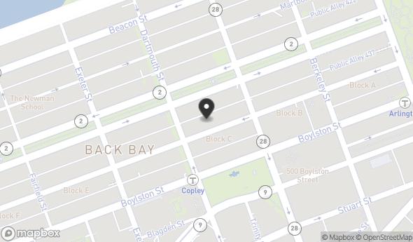 Location of Ultimate Newbury Street Location: 135 Newbury St, Boston, MA 02116
