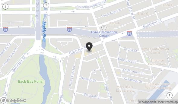 Location of 1112-1116 Boylston Street, Boston, MA, 02215