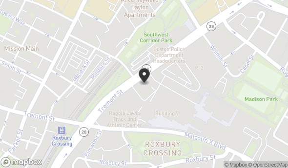 Location of Tremont Crossing: 1290 Tremont St, Boston, MA 02120